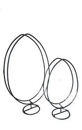 Frame Zwaar Staand ei op voet 40 cm hoog MED Staand ei