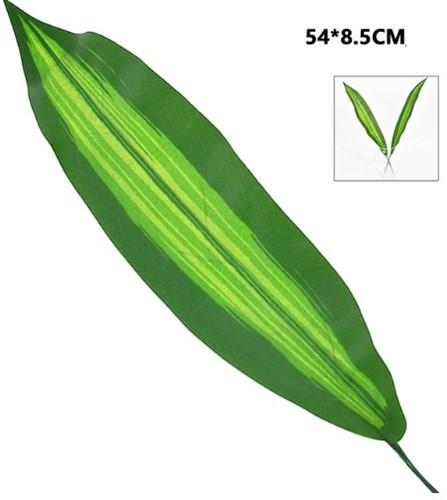 Aspidistrablad 2 tone 54*8, 5cm./stuk VT Wonen Botanical