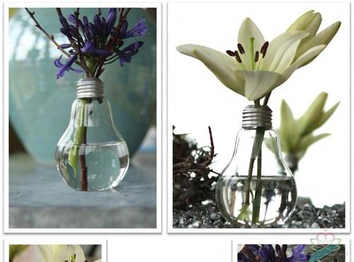 Glas Lampvaasjes set 6st gloeilampmodel GlasLampvaasjes doos