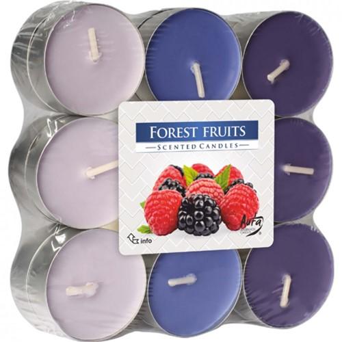 Waxinelichtjes Geurlichtje Theelichtjes Wilde bessen 18 stuks forest fruit 3 verschillende