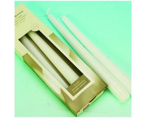 EIKA taper kaarsen Wit set van 4   mooie Kaarsen 25x2,5cm