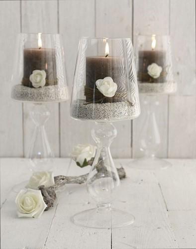 Glas Lampvaas med 25 cm. Glas Lampvaas