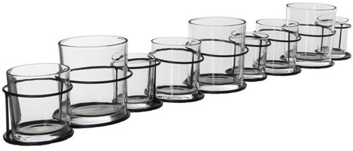 Glasrack met 9 vaasjes 73 cm. Glasrack met 9 vaasjes