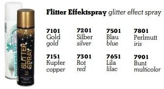 Glitterspray 400 cc  - 7101 Goud Glitterspray 400 cc