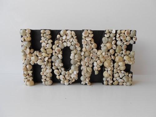 Pakket: DIY Schelpen letterbord Letters met Umbonium en minischelpjes voor een klein tekstbord