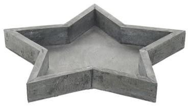 Houten sterschaal vergrijsd naturel 40x3cm  Houten sterschaal