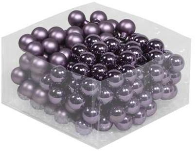 Balletjes op draad 2, 5 cm. Vintage grape paars combi doos 144 stuks Kerstballen 2, 5 cm.