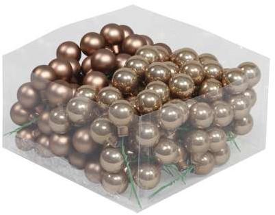 Balletjes op draad 2, 5 cm. Ginger combi doos 144 stuks Kerstballen 2, 5 cm.
