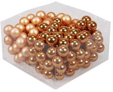 Balletjes op draad 2, 5 cm. Autumn Sunset combi doos 144 stuks Kerstballen 2, 5 cm.