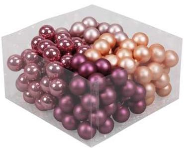 Balletjes op draad 2, 5 cm. Hibiscus combi doos 144 stuks Kerstballen 2, 5 cm.