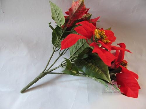 Kerstster Rood +/- 30cm. Per stuk Kerstster Rood