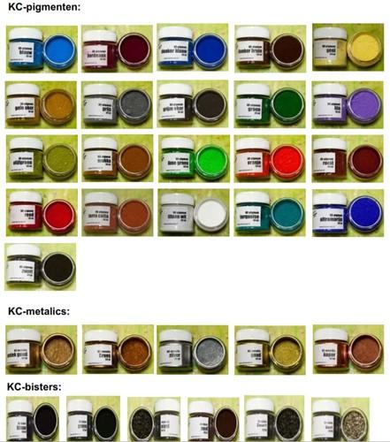 KC Pigment KC Metallic Zilver25 gram voor Keracoat en Textielverstevigers