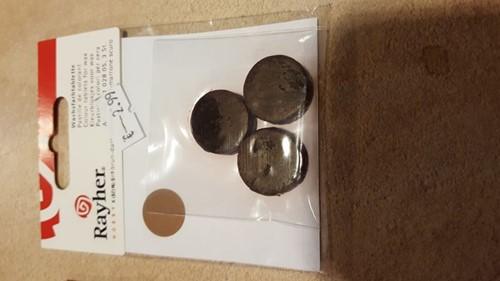 Kleurstof voor was en kaarsen-gel Donkerbruin 3 stuk, 2 cm.  Kaarsen kleurstof