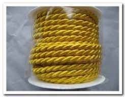 Koord, glanzend gekleurd koord 6mm -rol 10 m - 11 wit Koord, glanzend