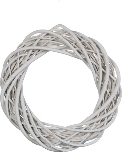 Krans wilgentenen 30 cm. Wit - wit Krans wilgentenen
