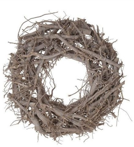 Krans Crazy root wreath 40cm. white wash Krans Crazy root wreath40