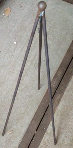 Staander voor kransen 60 cm ZWAAR Kransstandaard Kransezel  ONGELAKT