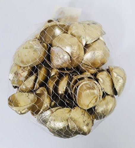 Cockels kokkels goud +/- 1 kilo cockel geverfd