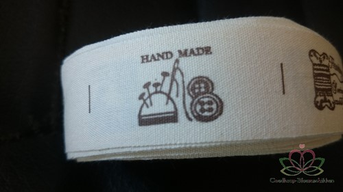 Lint Labels HANDMADE 25 MM / rol 18-19 labels Linten