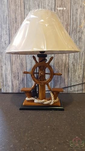 Maritiem Schemerlamp Tafellamp STUURWIEL 52 cm. Juweeltje