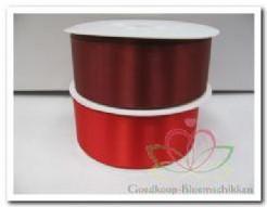 Lint Dubbel Satijn 40 mm rood of wijnrood /meter - 77 rood Lint Dubbel Sat