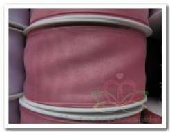 Lint Organza Rose 40 mm draad / m Lint Organza Ro