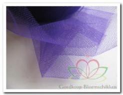 Lint Tule 8 cm. Paars-Violet / meter Lint Tule 8 cm.