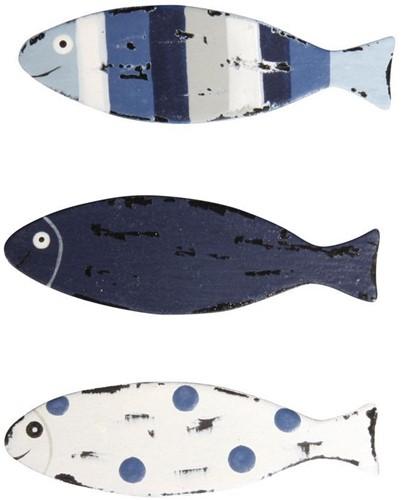 Maritiem Metaal strooideeltjes vissen, 5x1, 5cm, +/- 9 stuks Metaal strooideeltjes vis
