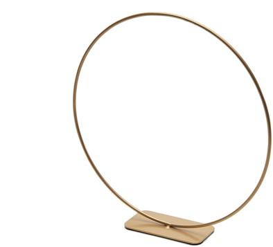 Frame Metalen ring op voet 25cm goud Metalenframe ring op voet