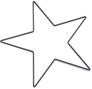 Frame Metalen Ster 50cm zwart Metalen stervorm