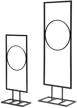 Frame rechthoek met cirkel Frame Rectangle + circle 28x70cm Op voet
