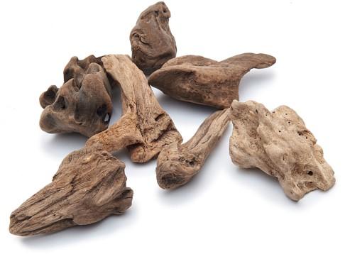 Crazy driftwood 5-10cm 500g Drijfhout