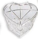 Metaalhart Giveaway Zilverkleur 5 *4 cm. Metaalhart
