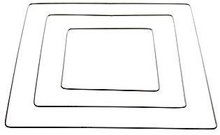 Metalen frame, creating frame 6mm dik BUC - 40 cm vierkant