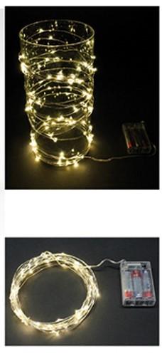 Ledlampje WARMWIT 20 lampjes ZONDER !batterij! Led lampjes