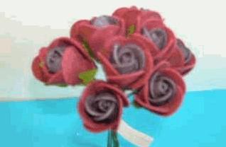Actie Mini foam roos 2 cm. Bordeaux doos 144 st Mini foam roos