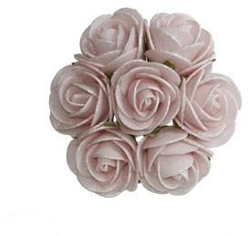 MINI foamroos Emilia 3 cm. antique soft pink / doos 84 new Bundel van 7 foam roos Emilia