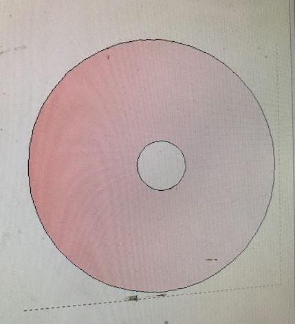 Styropor schijf 50 cm diameter met rond gat Piepschuim molensteen +/- 7cm