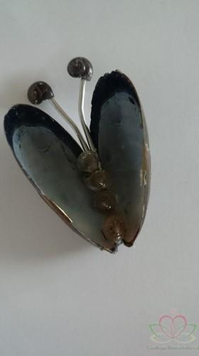 Mossel vlinder. Vlinder van Mosselen uit Bruinisse Handmade