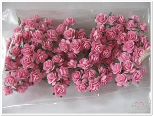 Mulberry Roosjes Roze 1cm. / PAK op=op Mulberry Roosje