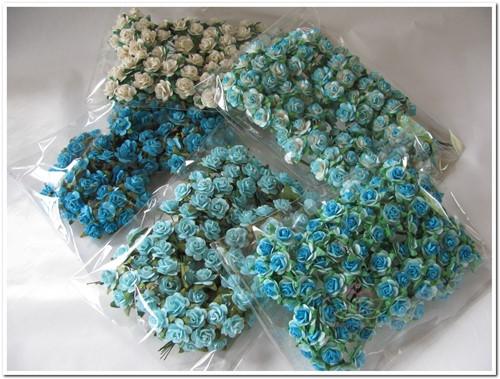 Mulberry Roosjes BULK Blauw-wit 5 PACK eenmalig Mulberry Roosje