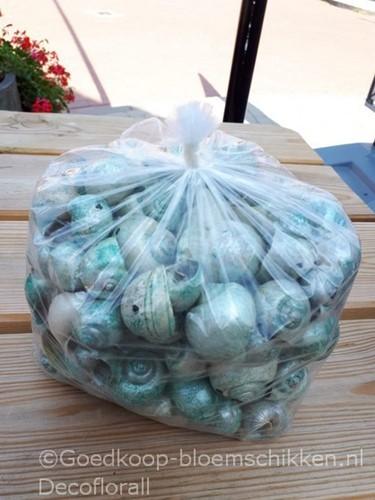 Nattai Pearlized Groen parelmoer 500 gram. GEBOORD geboord, groen parelmoer, 500 gram