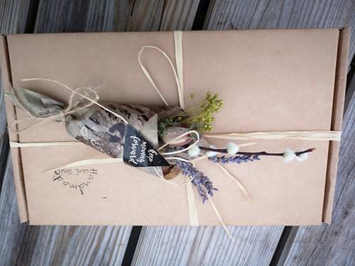 Natural Happiness Stuur een boeketje - Bedrukt met Lavendel Natural Happiness Gift