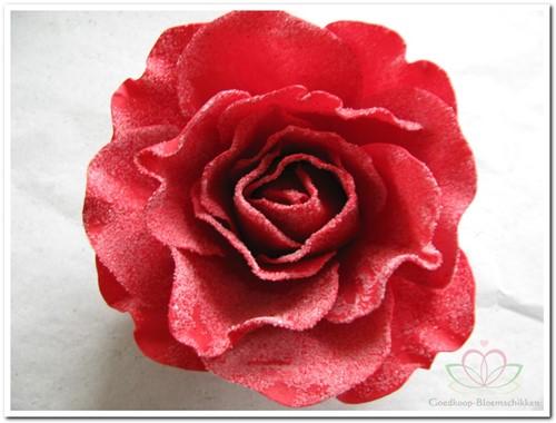 foam Rose Sophie 15cm. snow Red Doos12 voordeelpak