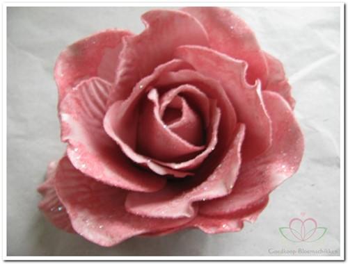 foam Rose Sophie 15cm. snow Old Pink Doos12 voordeelpak