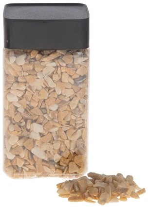 Natuursteen Natural pebbles 5-8mm 600gram. Mixed Creamsplit Stenen 5-8mm 600gr