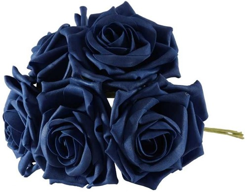 Foam Roos  Open Tea Rose X5 Navy Foamroos