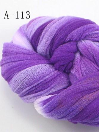 Nylon 113 Purple-Wit 2tone voor het maken van bloemen Nylon