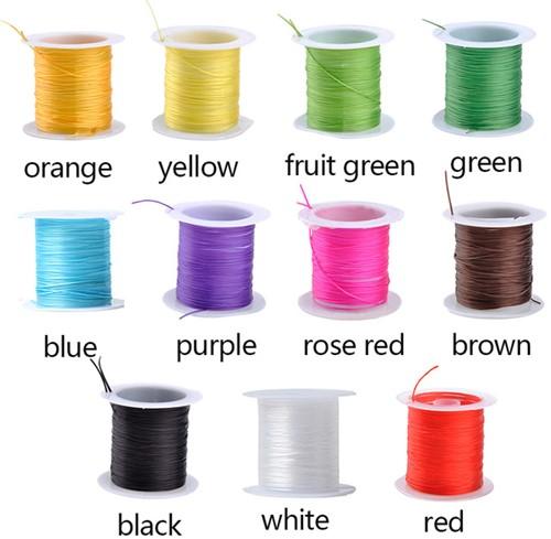 Elastisch Gekleurd Nylon voor O. a. sieraden rol 10m - paars Elastisch nylon