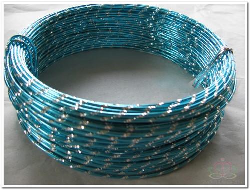Oasis Diamond Sensation Wire - 40-10108 Turqoise Aludraad met di